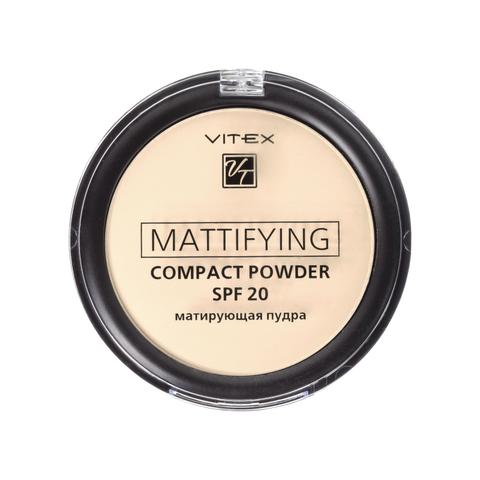 Витэкс Матирующая компактная пудра для лица Mattifying compact powder SPF20 тон 01 Porcelain