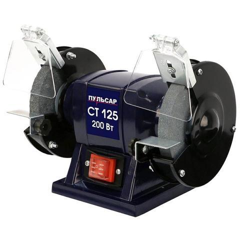 Станок точило ПУЛЬСАР СТ 125 (200Вт, диск 125x16x12,7мм 2950 об/мин, 4 кг) (791-349)