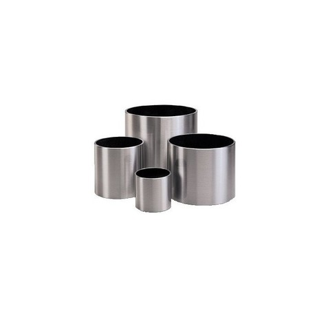 Кашпо (металл) President Stainless steel brushed, D37xH38см