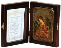 Икона Ангел Хранитель 15х10см на натуральном дереве в подарочной коробке