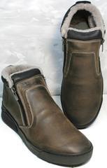 Ботинки мужские зимние кожаные Rifellini Rovigo 046 Brown Black.