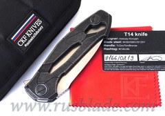 CKF T14W (new T90) knife - Alexey Konygin, M390, Copper, Ti