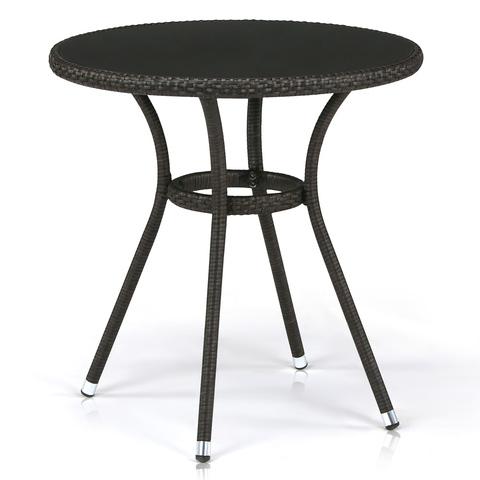 Плетеный стол T282ANS-W53-D72 Brown