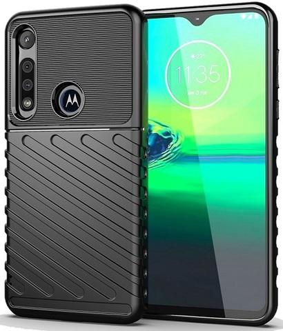 Чехол Motorola Moto G8 Play (One Macro) цвет Black (черный), серия Onyx, Caseport