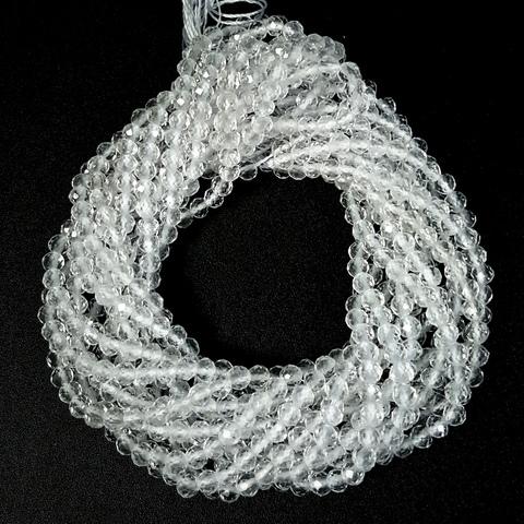 Бусины горный хрусталь A шар граненый 3,3 мм нить 19 см