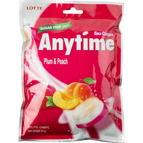 Карамель леденцовая со вкусом сливы и персик 74 гр