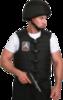 Бронежилет Комфорт 1-1 УНИ чехол «Дельта» (бронесталь), Бр1 класс защиты