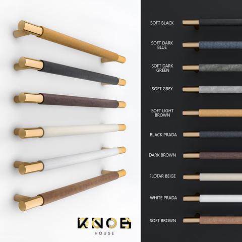 Ручка скоба N23 Leather без планки