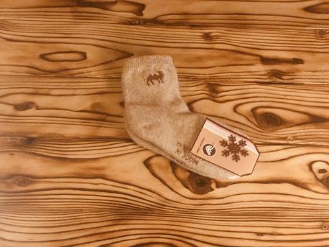 Носки детские из верблюжьей шерсти р.4 фото1