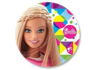 Тарелка Барби 23см 8шт