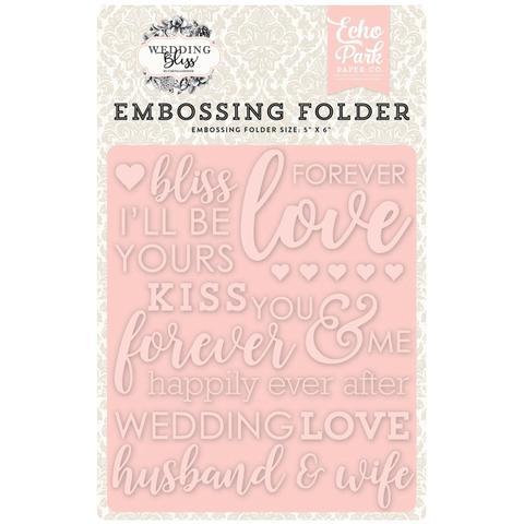 Папка для тиснения Echo Park Embossing Folder - Wedding Bliss, Forever Love
