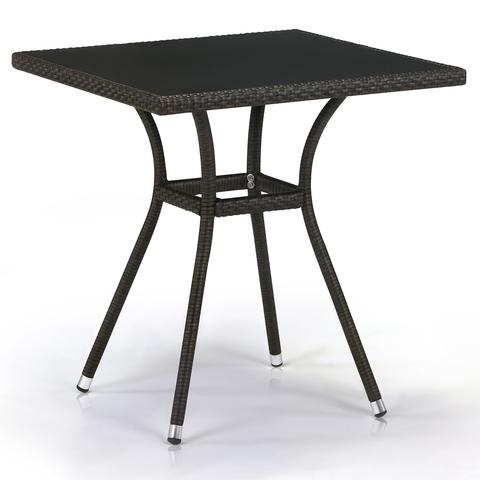 Плетеный стол T282BNS-W53-70x70 Brown
