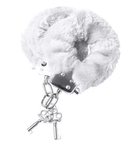 Наручники с белой меховой опушкой