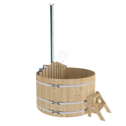 Фурако из кедра D=1.8 с внутренней печкой. Высота 1,0м. Исполнение