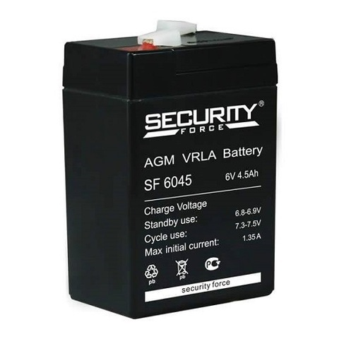 SF 6045 аккумулятор 6В/4,5Ач Security Force