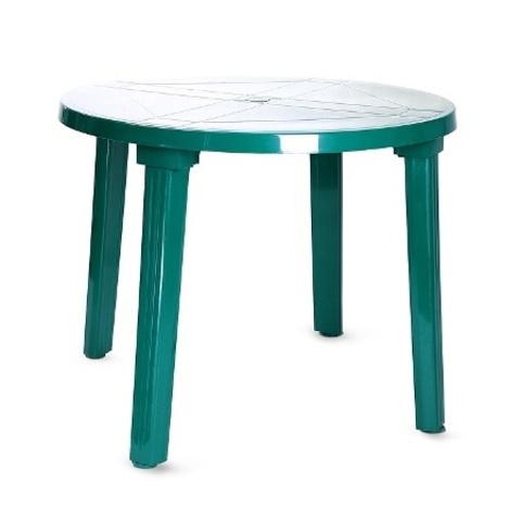Пластиковый стол круглый зеленый