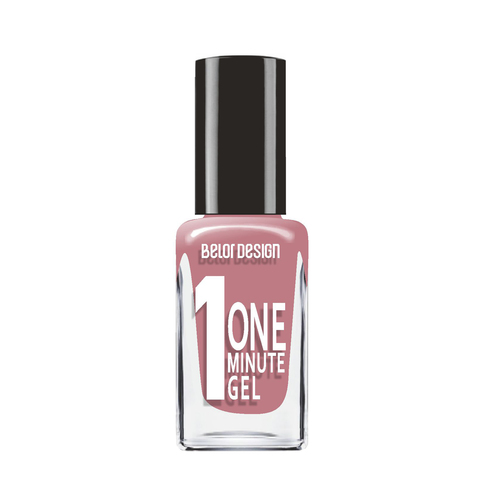 BelorDesign One Minute Gel Лак для ногтей тон 210 нежный мокко 10мл