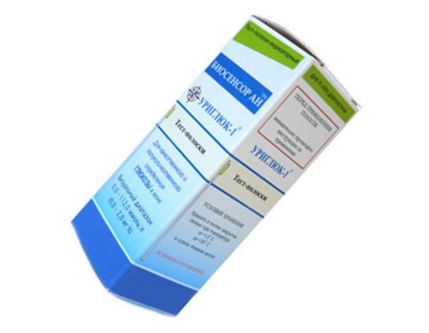 Тест-полоски визуальные Уриглюк - 1 № 50, для определения глюкозы в моче