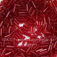 90120 Бисер Preciosa стеклярус #3, прозрачный бордово-красный