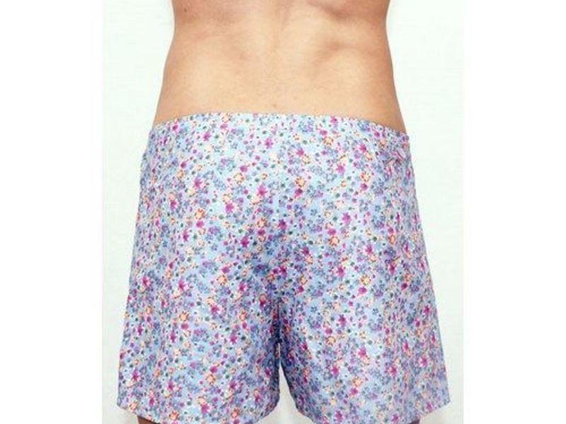 Мужские шорты домашние бирюзовые   Romeo Rossi Spring Meadow Shorts RR00313