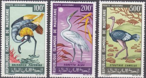 Мавритания 1967 № 304-6 Фауна **MNH