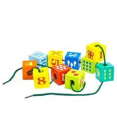 Шнуровка Alatoys Кубики с печатью
