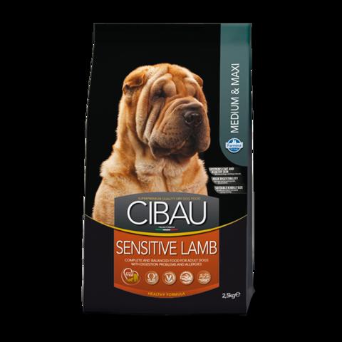 Farmina Cibau Sensitive Lamb Medium & Maxi Сухой корм для собак средних и крупных пород с Ягненком