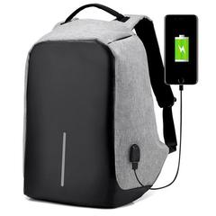 Рюкзак-антивор Kalidi USB светло-серый