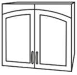 Чили ШВС 800 шкаф верхний со стеклом