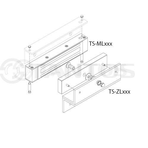 TS-ZL300 Монтажный уголок для замка TS-ML300