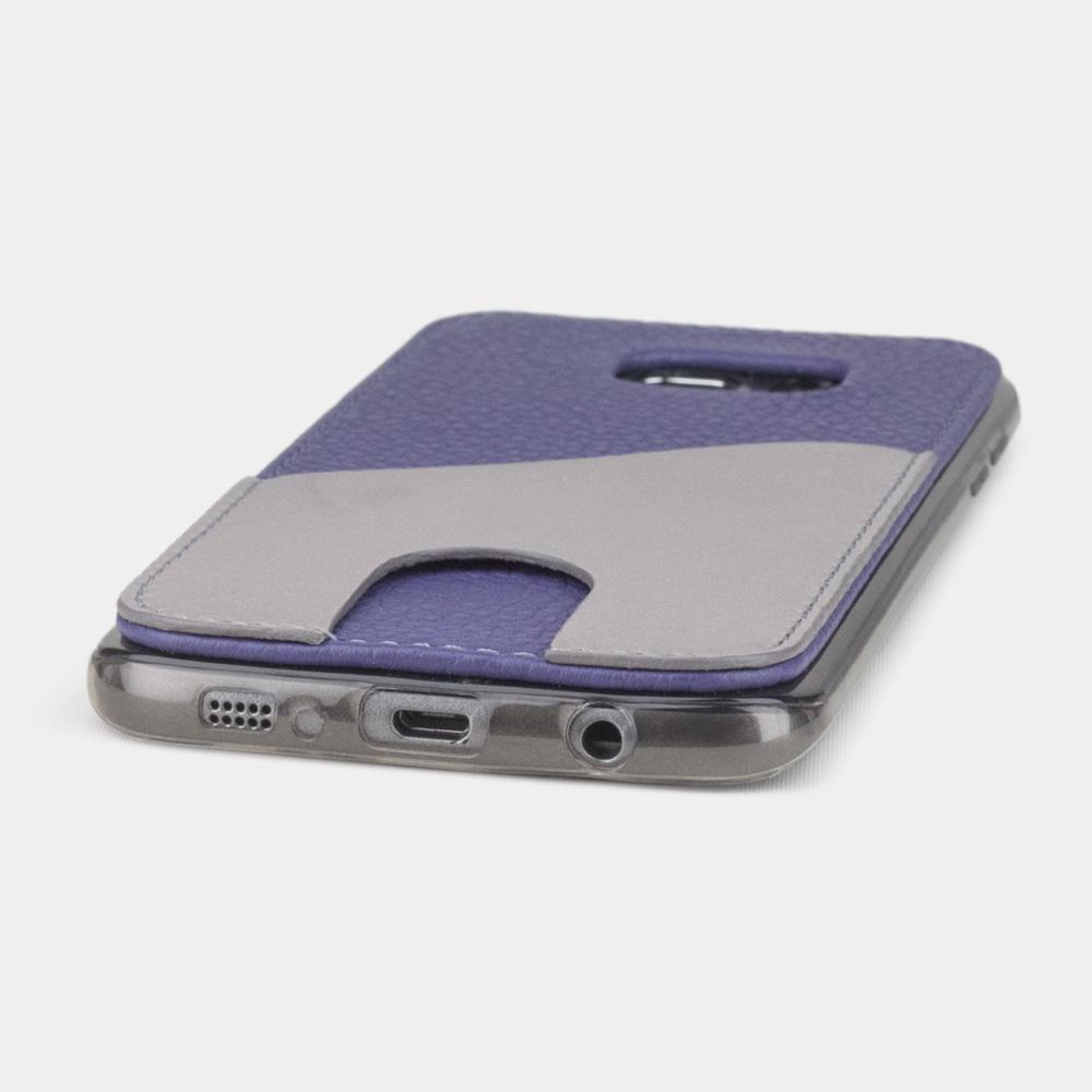 Чехол-накладка Andre для Samsung S7 edge из натуральной кожи теленка, цвета сирени