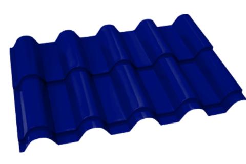 Металлочерепица Банга Полиэстер RAL 5002 Синий ультра 0,45 мм