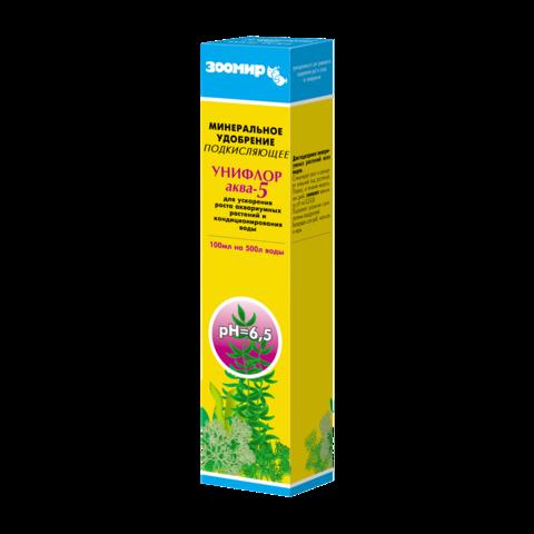 Зоомир Унифлор аква-5 минеральное удобрение для аквариумных растений подкисляющее