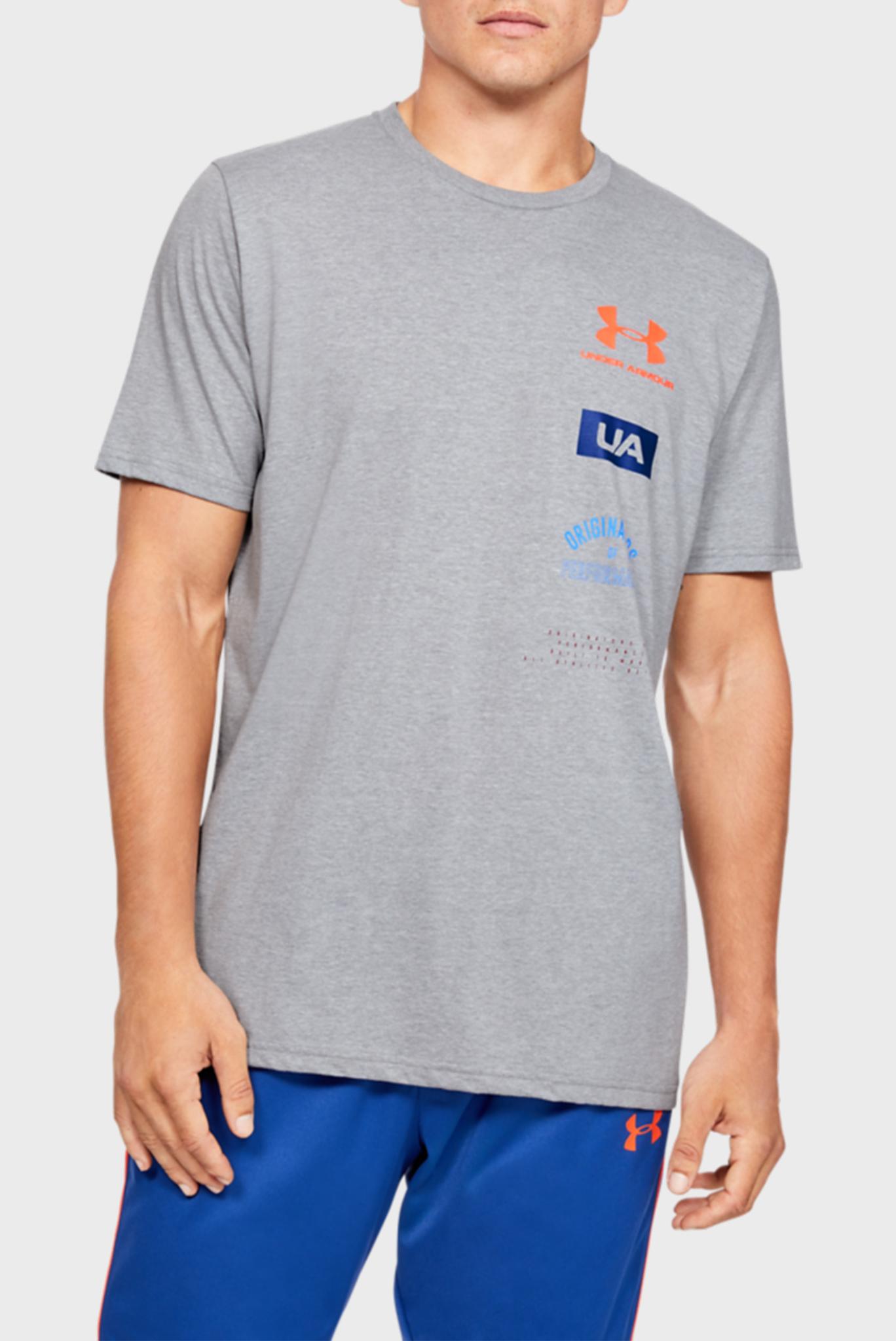 Мужская серая футболка UA PERF. ORIGIN BACK SS-GRY Under Armour