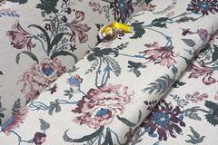 Льняная интерьерная ткань принт БАРБАРА