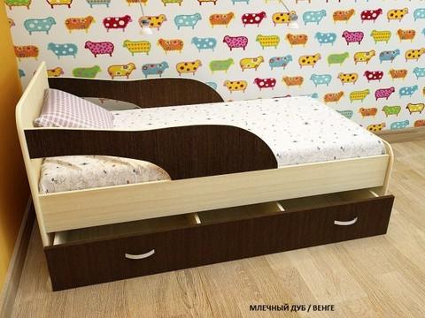 Кровать Максимка млечный дуб / венге