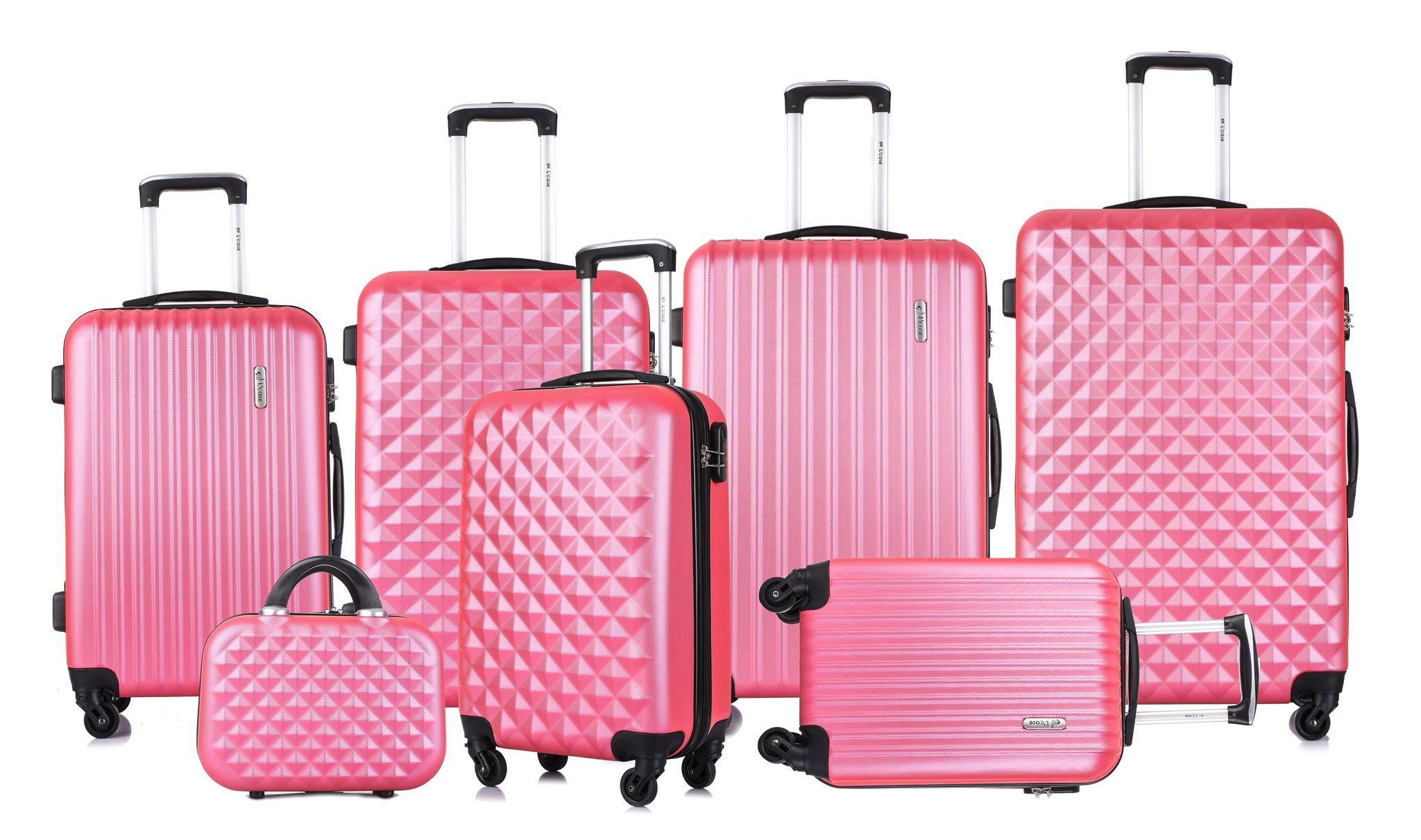 Чемодан со съемными колесами L'case Phatthaya-24 Розовый (M)