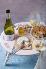 Складной столик для вина, нежно-розовый, фото 3