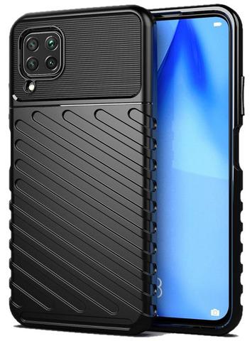 Ударопрочный чехол черный для Huawei P40 Lite с текстурным рисунком, серии Onyx от Caseport