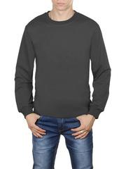4054-3 футболка мужская дл. рукав, темно-серая