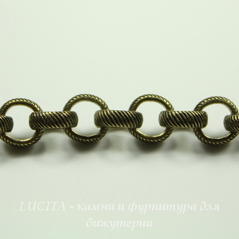 Винтажная цепь (звено 5 мм) (оксид латуни), 10 см ()