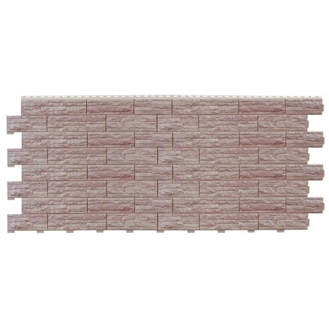 Фасадные панели (Цокольный Сайдинг) Доломит Скалистый Риф Люкс Жемчуг
