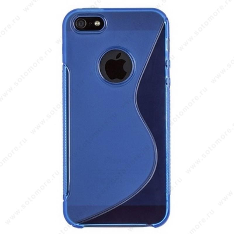 Накладка силиконовый для Apple iPhone SE/ 5s/ 5C/ 5 жесткий синий