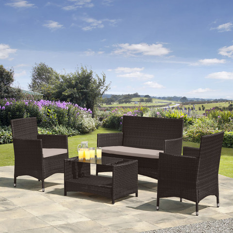 Комплект мебели из иск. ротанга AFM-2025B Black