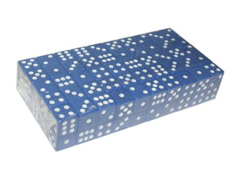 Кубик игровой №15. Цвет синий. Продажа упаковками. В упаковке 100 шт. К15#-С