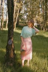 D Блузка Barbara 443 квадрат горошек (В20)