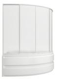 шторки для ванной 160*100см Сагра, 4-х створчатая, Пластик