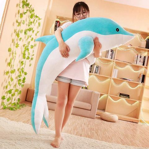 Дельфин большая мягкая игрушка