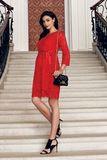 Платье для беременных 08484 красный