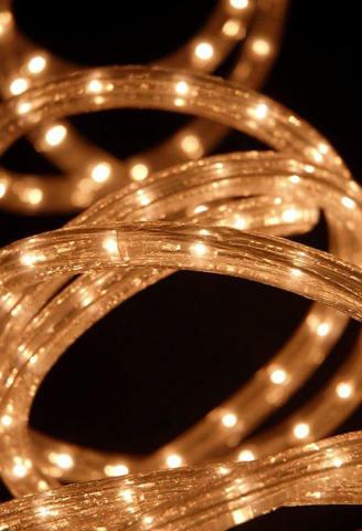 LED гирлянда дюралайт 10 метров отрезок готовый набор с вилкой и сетевым шнуром